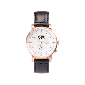Buy business stylish design watches online shipping worldwide / Watch THE AUGUST - ROSE GOLD / WHITE - maison-inland /  goes with all - best designed watch shop online quality classical elegant stylish resistant wristwatches / made in Canada
