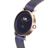 Buy fashion woman's design watches online shipping worldwide / Watch THE JUNE - ANTIQUE GOLD / NAVY - maison-inland  / goes with all - best designed watch shop online quality classical elegant stylish resistant wristwatches / top quality watches made in North America