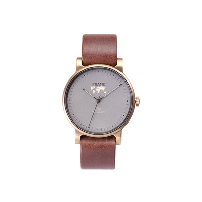 Buy luxurious woman's design watches online shipping worldwide / Watch THE JUNE - ANTIQUE GOLD / GREY - maison-inland /  goes with all - best designed watch shop online quality classical elegant stylish resistant wristwatches / top quality made in North America