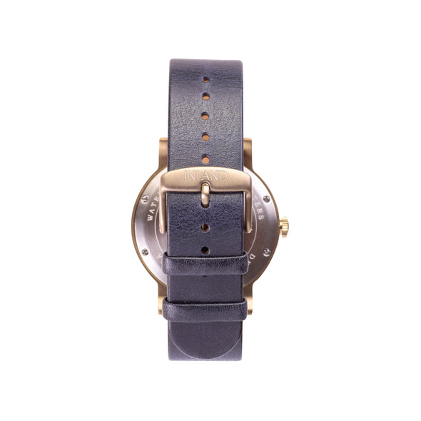 Buy distinguished woman's design watches online shipping worldwide / Watch THE JUNE - ANTIQUE GOLD / NAVY - maison-inland  / goes with all - best designed watch shop online quality classical elegant stylish resistant wristwatches / top quality watches made in North America