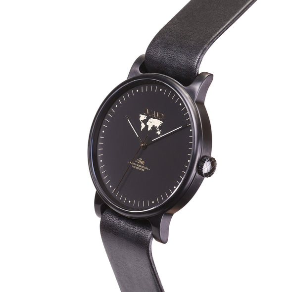 Buy beautiful & stylish women's watches online shipping worldwide / Watch THE JUNE - BLACK in BLACK - maison-inland / goes with all - best designed watch shop online quality classical elegant stylish resistant wristwatches / top quality watches made in North America