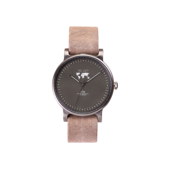 Buy luxurious woman's design watches online shipping worldwide / Watch THE JUNE - CHARCOAL / OLIVE GREY - maison-inland /  goes with all - best designed watch shop online quality classical elegant stylish resistant wristwatches / gorgeous top quality design made in North America