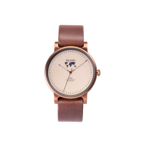 Buy amazing stylish woman's watches online shipping worldwide / Watch THE JUNE - COPPER / SAND - maison-inland /  goes with all - best designed watch shop online quality classical elegant stylish resistant wristwatches / gorgeous top quality design made in North America
