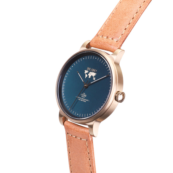 Buy exclusive design women watches online shipping worldwide / Watch THE JUNE PETITE - ANTIQUE GOLD / DUCK GREEN - maison-inland  goes with all - best designed watch shop online quality classical elegant stylish resistant wristwatches / durable gorgeous top quality design made in North America