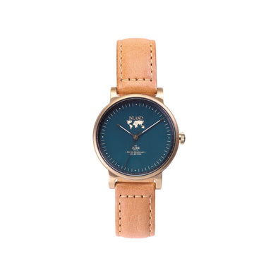 Buy exclusive design women watches online shipping worldwide / Watch THE JUNE PETITE - ANTIQUE GOLD / DUCK GREEN - maison-inland  goes with all - best designed watch shop online quality classical elegant stylish resistant wristwatches / gorgeous top quality design made in North America