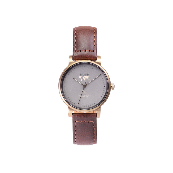 Buy exclusive  and elegant women watches online shipping worldwide / Watch THE JUNE PETITE - ANTIQUE GOLD / GREY - maison-inland /  goes with all - best designed watch shop online quality classical elegant stylish resistant wristwatches / gorgeous top quality Canadian design