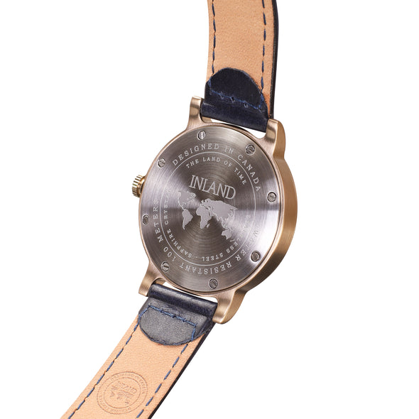 Buy exclusive and remarkable women watches online shipping worldwide / Watch THE JUNE PETITE - ANTIQUE GOLD / NAVY - maison-inland /  goes with all - best designed watch shop online quality classical elegant stylish resistant wristwatches / urban top quality watch 100% Canadian design