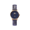 Buy exclusive and cosmopolitan women watches online shipping worldwide / Watch THE JUNE PETITE - ANTIQUE GOLD / NAVY - maison-inland /  goes with all - best designed watch shop online quality classical elegant stylish resistant wristwatches / urban top quality watch 100% Canadian design