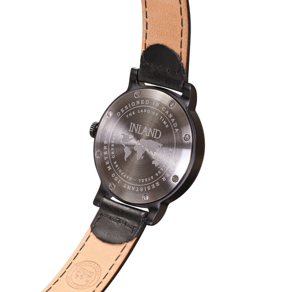 Buy tasteful cosmopolitan women watches online shipping worldwide / Watch THE JUNE PETITE - BLACK in BLACK - maison-inland/ versatile - carefully designed watch shop online quality classical elegant stylish resistant wristwatches / urban high quality watch 100% Canadian design
