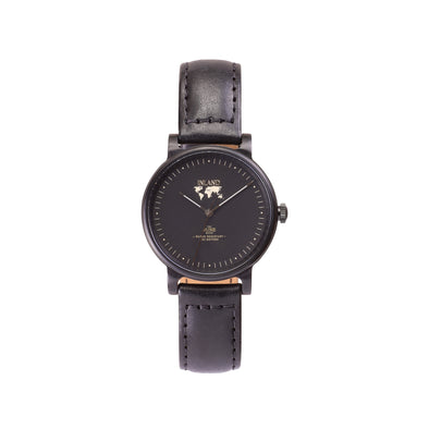Buy exclusive and cosmopolitan women watches online shipping worldwide / Watch THE JUNE PETITE - BLACK in BLACK - maison-inland/ versatile - carefully designed watch shop online quality classical elegant stylish resistant wristwatches / urban high quality watch 100% Canadian desig