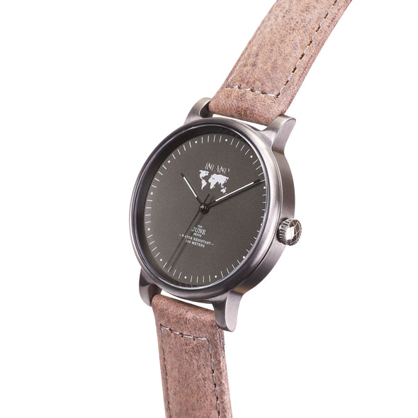 Purchase women tastefully designed watches online shipping worldwide / Watch THE JUNE PETITE - CHARCOAL / OLIVE GREY - maison-inland / versatile - carefully designed watch shop online quality classical elegant stylish resistant wristwatches / exclusive high quality watches great Northern style