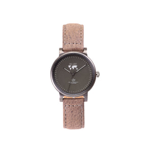 Buy woman's elegant designed watches online shipping worldwide / Watch THE JUNE PETITE - CHARCOAL / OLIVE GREY - maison-inland / versatile - carefully designed watch shop online quality classical elegant stylish resistant wristwatches / urban high quality watches great Northern style