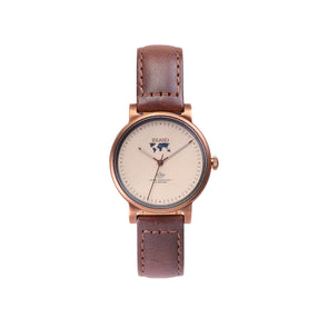 Purchase  tastefully designed women watches online shipping worldwide / Watch THE JUNE PETITE - COPPER / SAND - maison-inland / versatile - carefully designed watch shop online quality classical elegant stylish resistant wristwatches / exclusive high quality watches great Northern style