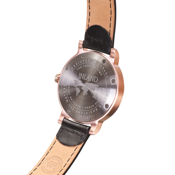 Purchase tasteful business woman wristwatch online worldwide shipping / Watch THE JUNE PETITE - ROSE GOLD / WHITE - maison-inland  / versatile - carefully designed watch shop online quality classical refined stylish resistant wristwatches / classy high quality watches great Canadian style