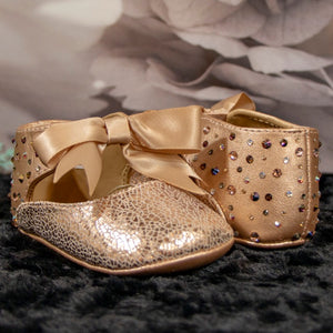 Champagne Shadow Baby Shoe_Jade + Jayne Boutique