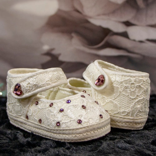 Ivory & Lace Baby Shoe_Jade + Jayne Boutique