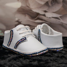Load image into Gallery viewer, Preppy in Blue Baby Shoe_Jade + Jayne Boutique