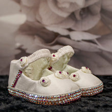 Load image into Gallery viewer, Rosie Posie Pink Baby Shoe_Jade + Jayne Boutique