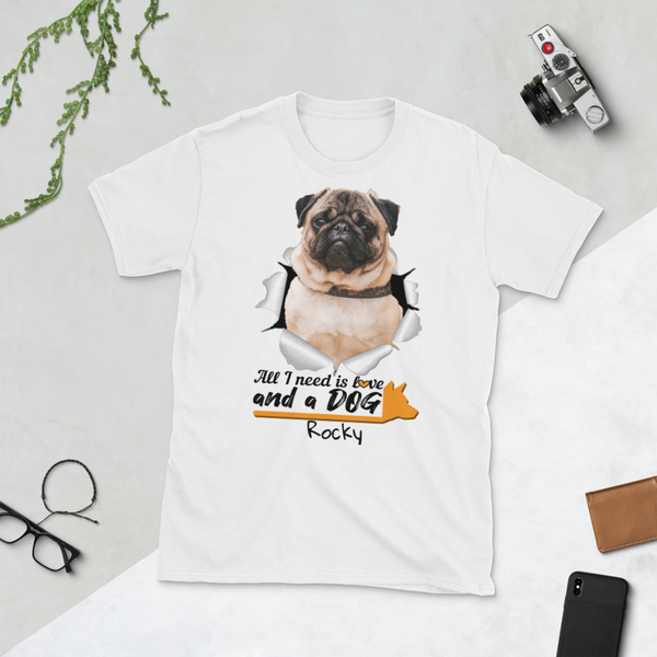 pet-on-shirt - All I Need Is Love And a DOG - Pet On Shirt - Pet Designs