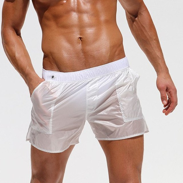 675537d094 ... Load image into Gallery viewer, Mens Quick-drying Swim Trunks Pants  Swimwear Shorts Slim ...