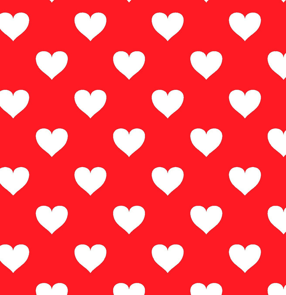 Hearts Red Background FABRIC 48 x 286,5 cm - Decochic