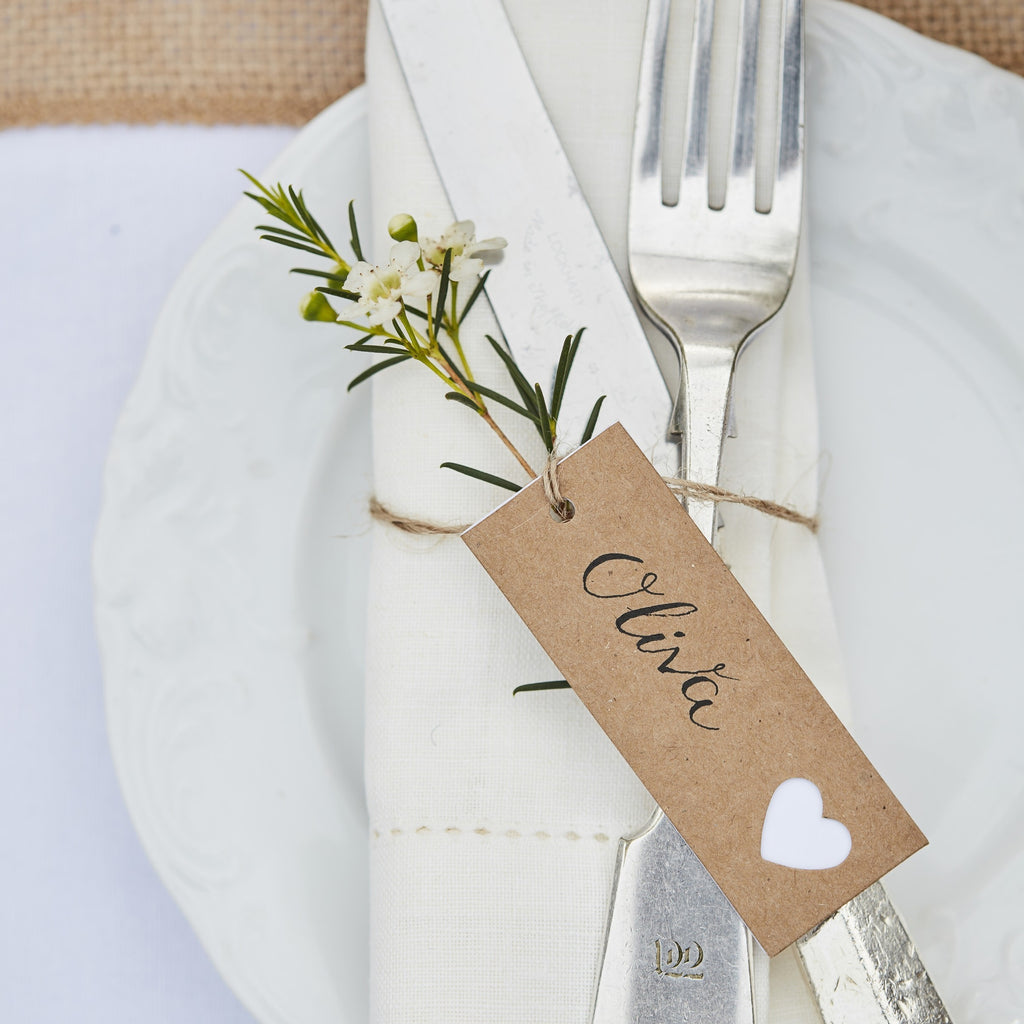 Tags with White Heart - Decochic