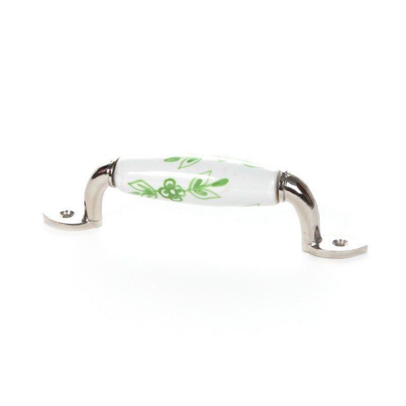 Handle in White and Green Ceramic - Decochic