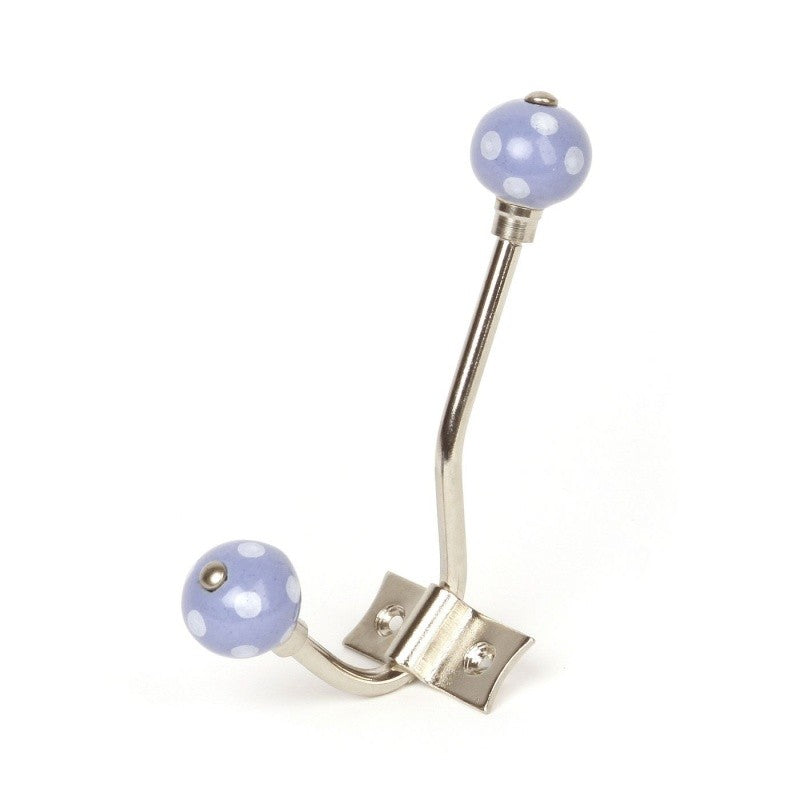 Lilac Ceramic Hanger with White Dots - Decochic