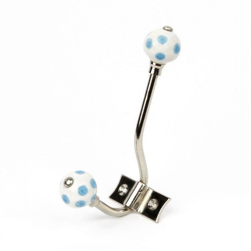 White Polka Dot Hanger - Decochic