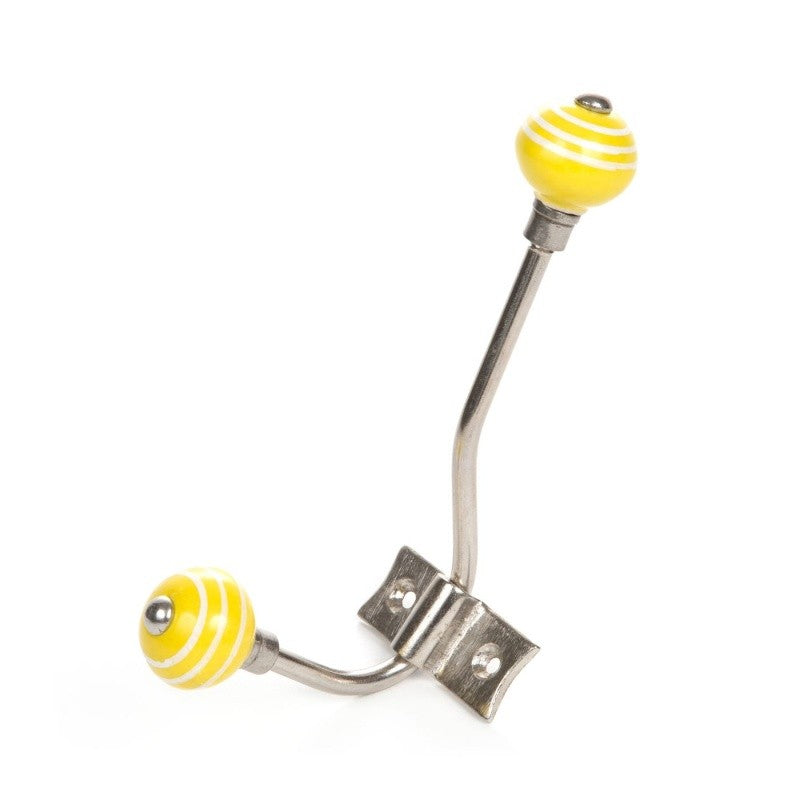 Yellow Striped White Hanger - Decochic