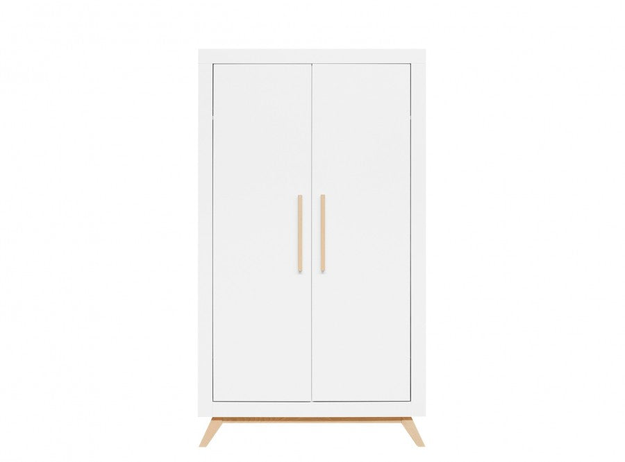 2 Doors Wardrobe Fenna White / Natural Bopita - Decochic