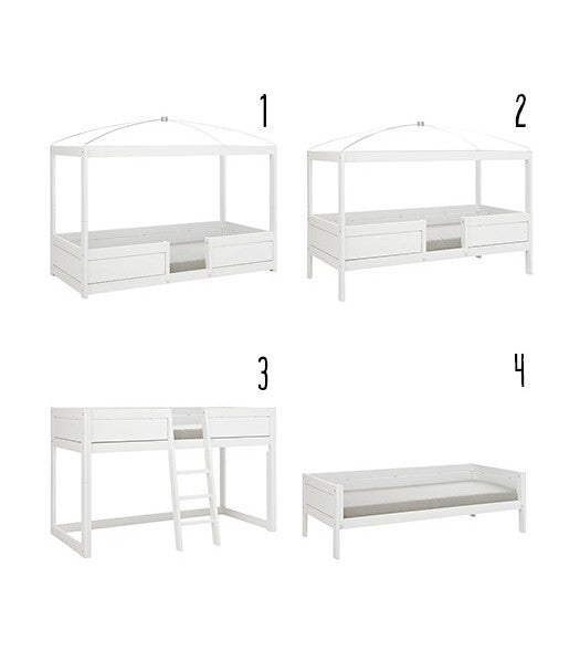 4 in 1 Single Bed Frame 90x200 cm LifeTime-3 Available Colors - Decochic