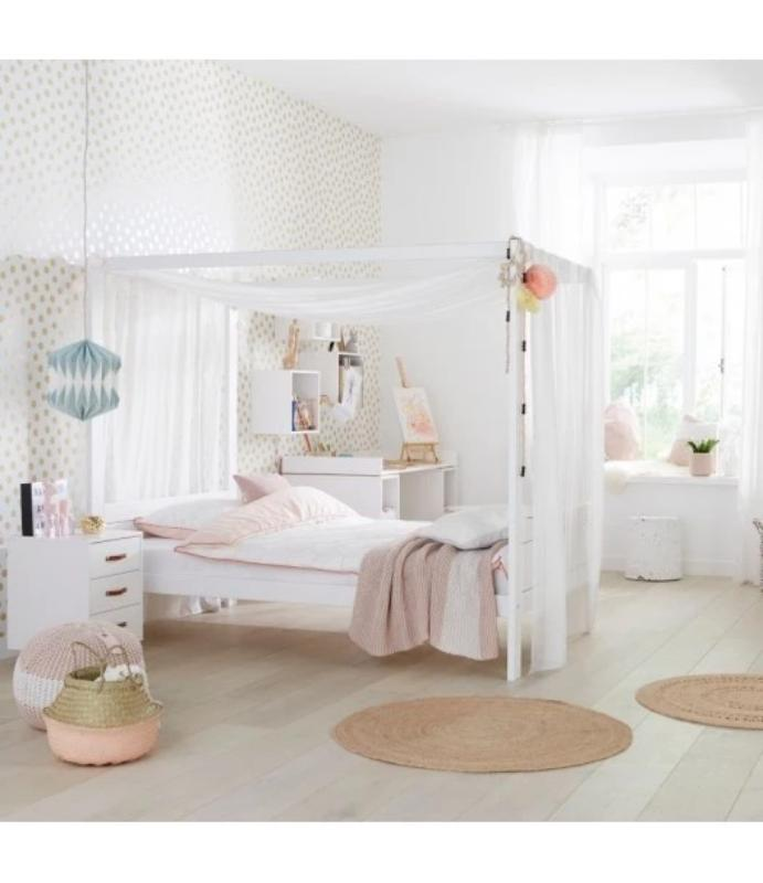 Cama con dosel y medio LifeTime - 3 colores disponibles - Decochic