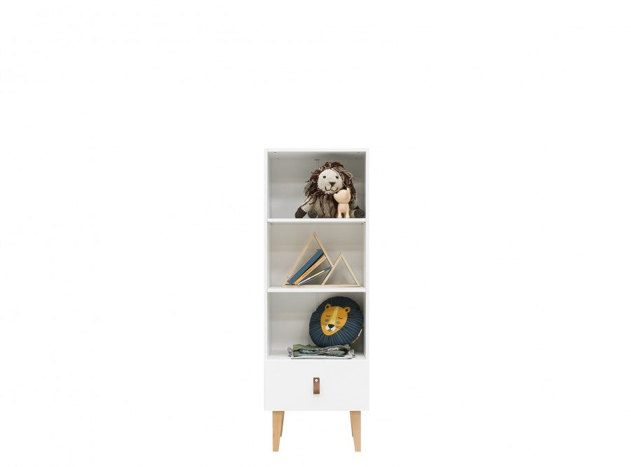 Indy White / Natural Bopita Bücherregal - Decochic