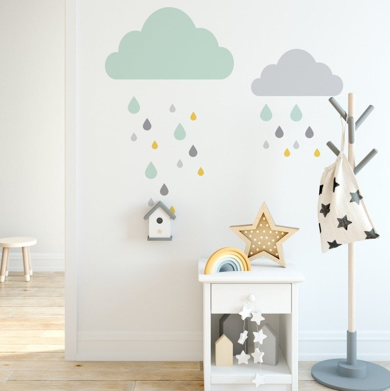Stickers Clouds and Drops - Decochic