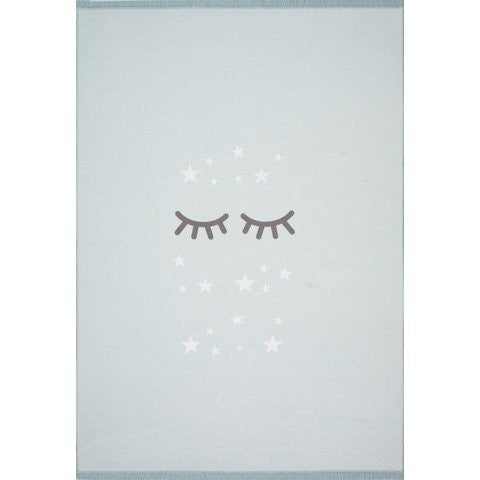 Children's Rug Mint with Eyes - Decochic