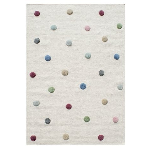 Tappeto Nature con Pois Multicolor Lana Vergine - Decochic