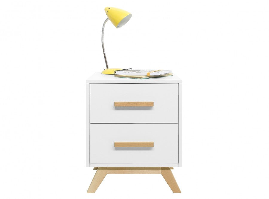 Bedside table Fenna White / Natural Bopita - Decochic
