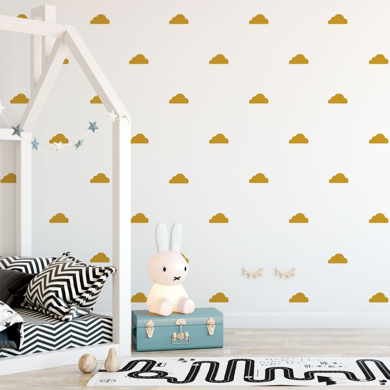Stickers muraux nuages-Plus de couleurs disponibles-Decochic