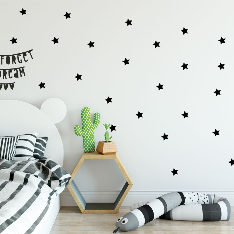 Stickers Wall Stickers Stars -36 Available Colors - Decochic