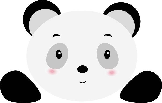Panda Sticker - Decochic