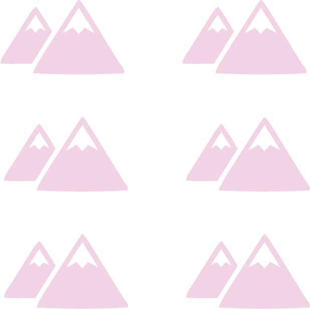 Mountain Room Stickers - More Colors Available - Decochic