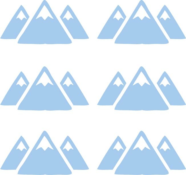 Mountains Wall Stickers-Multiple Colors Available - Decochic