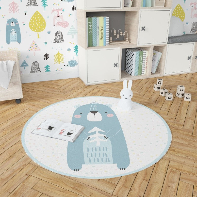 Round Bear Carpet Vinyl - Decochic
