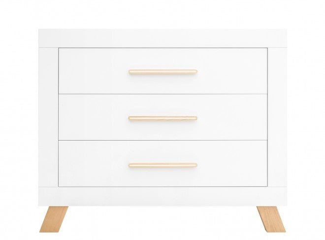 Mobile Changing table with 3 drawers Lisa Bianco Bopita - Decochic