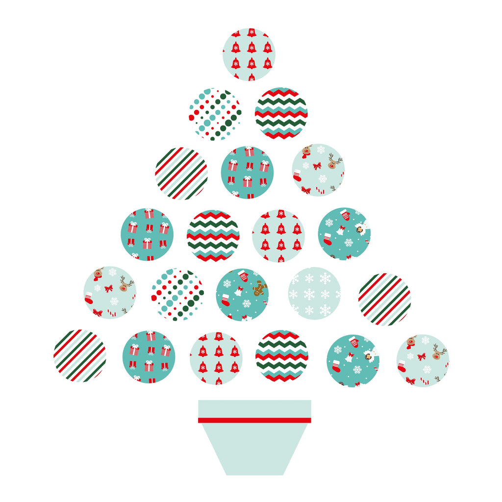 Stickers Christmas tree stickers Tiffany and Red - Decochic