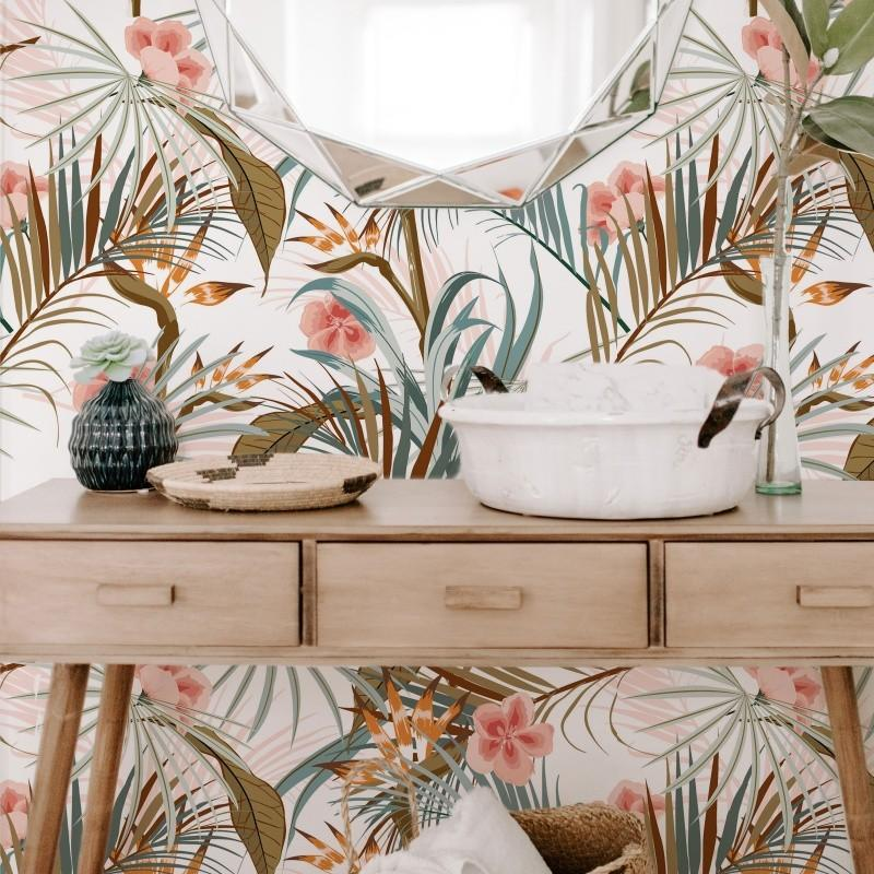 Tropical Plants Self-Adhesive Film - Decochic
