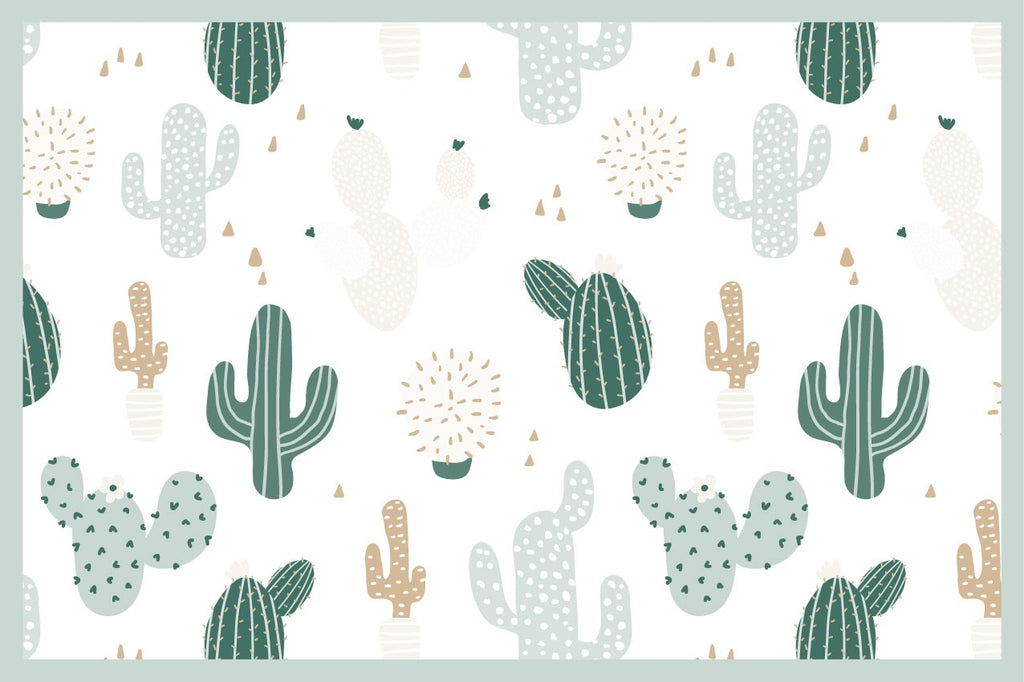 Tischset Kinder in Vinyl Green Cactus - Decochic