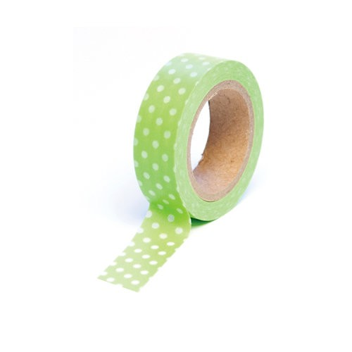 Green Pois Washi Masking Tape deco tape