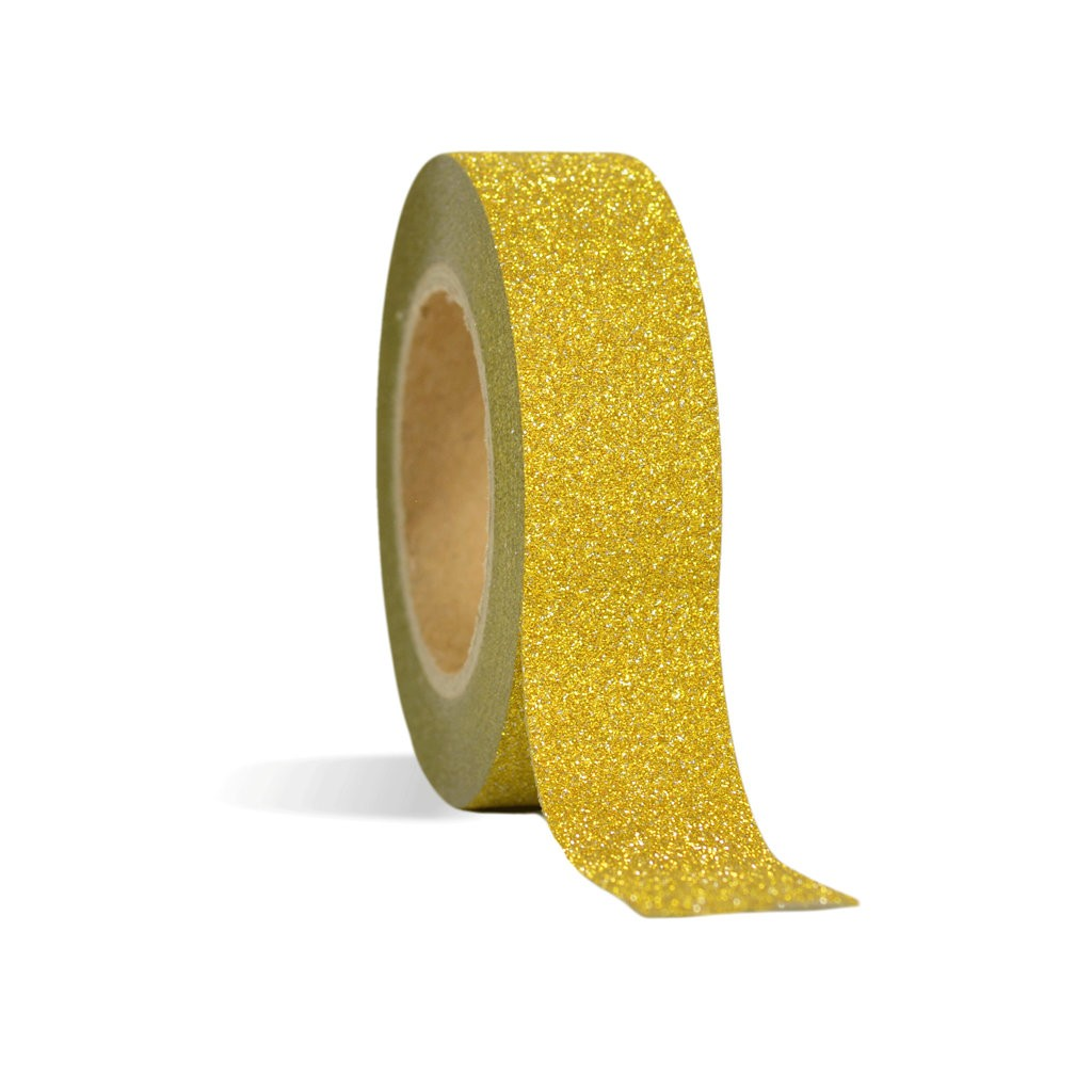 Gold Glitter Adhesive Tape - Decochic